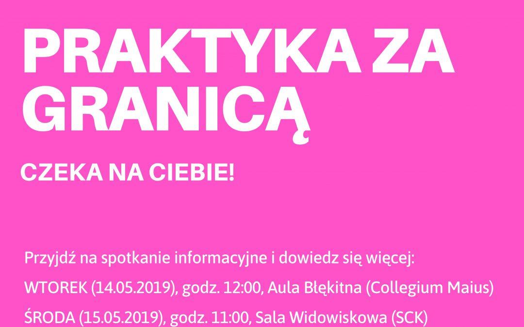Spotkanie informacyjne dla studentów dot. możliwości realizacji praktyk zagranicznych w ramach Programu Erasmus+