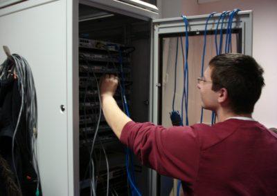 Zajęcia Lokalnej Akademii Cisco - grupa studencka
