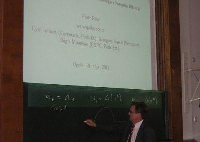 """Wykład pt. """"Rozwiązania Barenblatta dla nielokalnego równania filtracji"""" - prof. dr hab. Piotr Biler"""