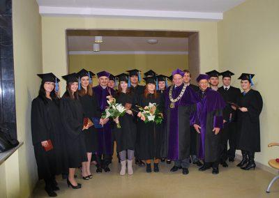 Uroczyste wręczenie dyplomów ukończenia studiów
