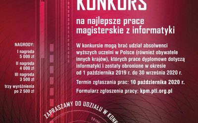 XXXVII Konkurs prac magisterskich z informatyki